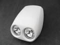 Cafe Racer Lampenmaske mit Doppelscheinwerfer 09