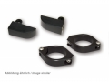 CNC Alu Blinkerhalter Set,schwarz